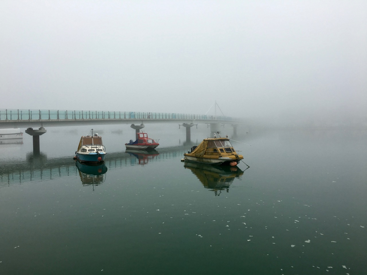 Misty Adur Ferry Bridge